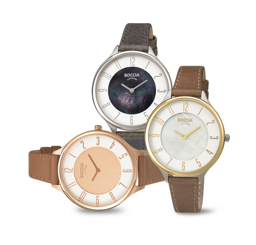 Dámské hodinky Boccia Titanium s koženým řemínkem 8d860d0738